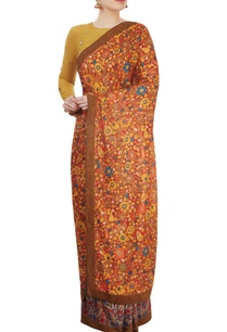 multi-colored-printed-sari-with-ochre-blouse
