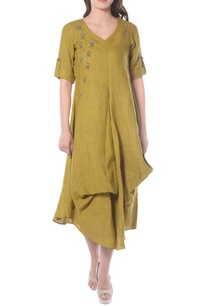 yellowish-green-embroidered-tunic