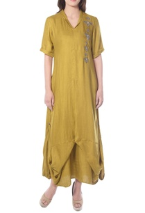 yellowish-green-draped-tunic