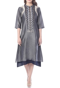 grey-embroidered-layered-tunic