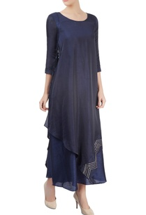navy-blue-kurta-with-overlap-effect-embellishments