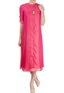 pink-layered-kurta-with-asymmetric-hem