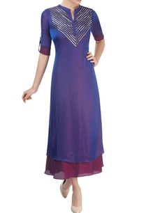 royal-blue-wine-layered-kurta-with-sequin-embellishment