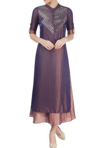 purple-dusky-peach-layered-kurta-with-embellishment