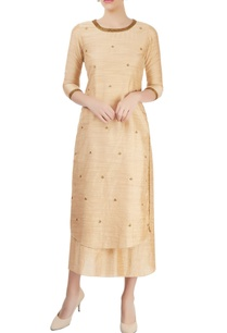 beige-layered-kurta-with-embroidery