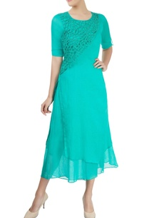 turquoise-blue-kurta-with-embellishments