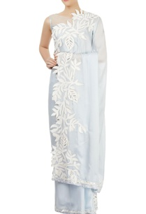 aqua-blue-appliqued-sari