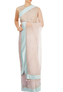 light-pink-blue-sari