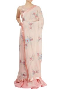 peach-pink-embroidered-lehenga-sari