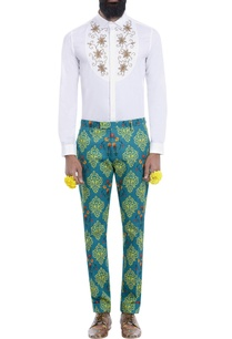 teal-blue-motif-print-trousers