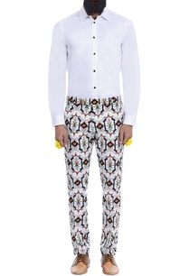 white-motif-print-trousers