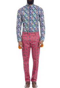 multi-colored-motif-print-shirt