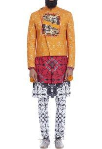 orange-printed-short-jacket