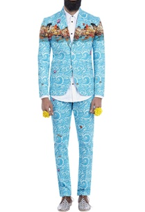 blue-wave-print-blazer