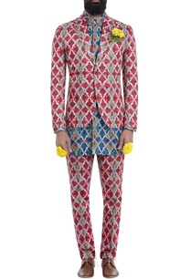 multi-colored-motif-print-blazer