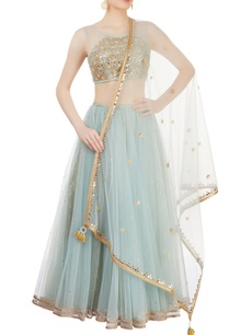 blue-embroidered-lehenga-set-with-mirror-work