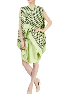 mint-green-embroidered-draped-dress