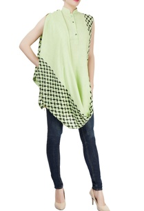 mint-green-embroidered-asymmetrical-tunic
