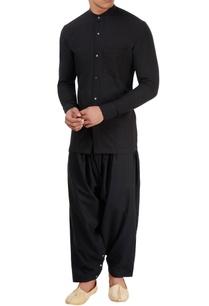 black-chinese-collared-shirt
