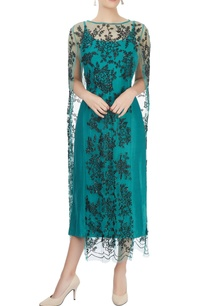 teal-blue-top-with-embroidered-cape