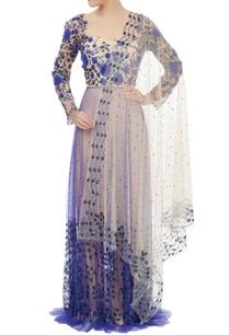 royal-blue-beige-embroidered-anarkali-set