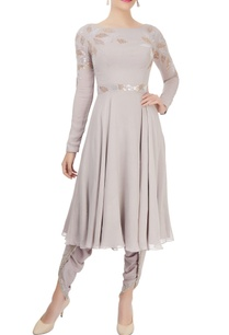 grey-embellished-kurta-dhoti-pants