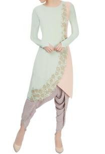 mint-green-blush-pink-embroidered-kurta