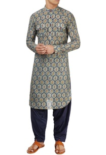 blue-chanderi-kurta