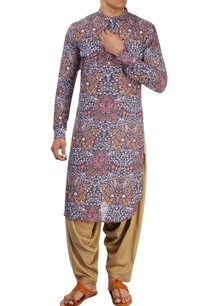 charcoal-multicolored-kurta
