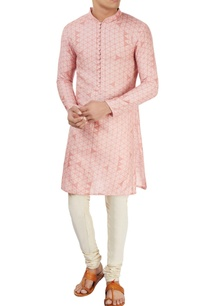 peach-printed-kurta