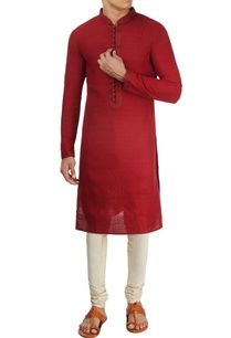 dark-red-textured-kurta