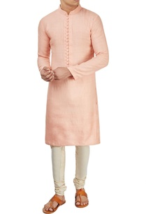 peach-textured-kurta