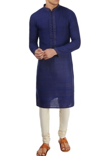 dark-blue-textured-kurta