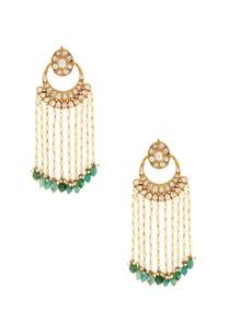 white-and-green-earrings