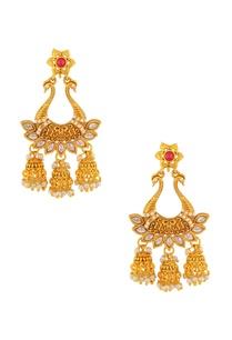 pink-white-jhumka-earrings