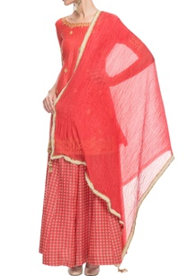 coral-red-gota-patti-kurta-set