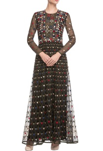 black-geometric-embroidered-maxi