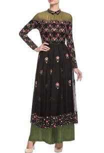 black-olive-embroidered-kurta-set