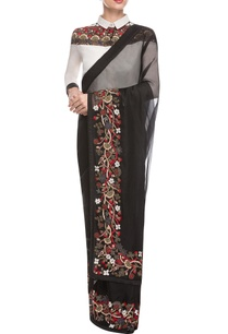 black-embroidered-shirt-sari