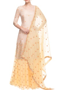 yellow-beige-sharara-set