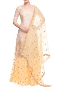 yellow-beige-sharara-set