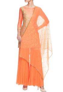orange-embroidered-sharara-set