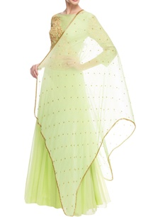 green-embroidered-lehenga-set