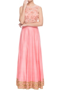 peach-3d-floral-embroidered-skirt-set