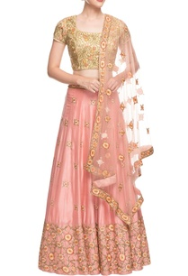 peach-gold-embroidered-lehenga-set