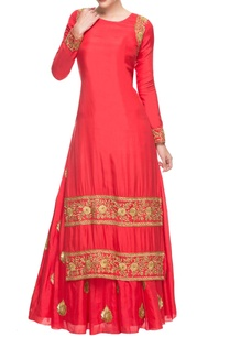 coral-red-embroidered-lehenga-set