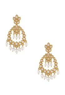 white-gold-kundan-earrings