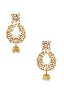 gold-white-beaded-jhumkas
