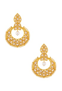 gold-white-beaded-kundan-earrings