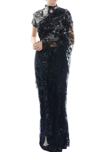 black-cutwork-embroidered-blouse-with-lace-sari
